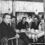 Irving, Milton Wilson, Leonard Cohen, Eli Mandel and Aviva in 1963