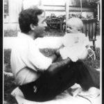Irving and baby Max in 1946